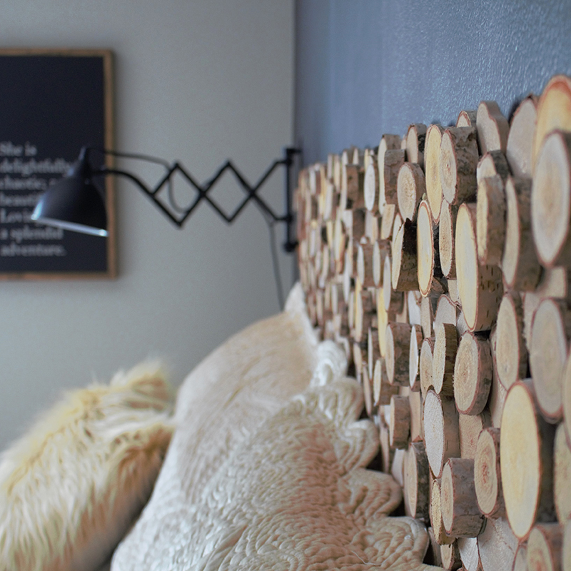 DIY on a Budget! Make your own rustic headboard