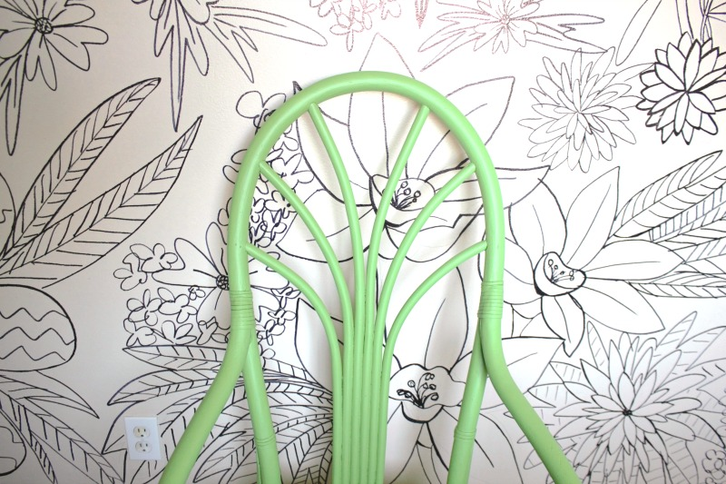 Floral Mural Drawn with Sharpie