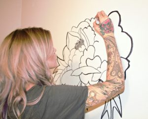 Shelby SMart drawing FLoral Mural