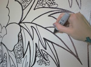 Wall Mural Sharpie outline