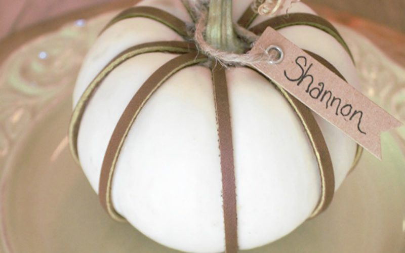 DIY Leather Wrapped Pumpkins for Your Holiday Table