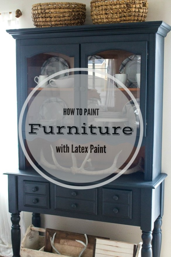 How To Easily Paint Furniture With Latex Paint Out With The Old And