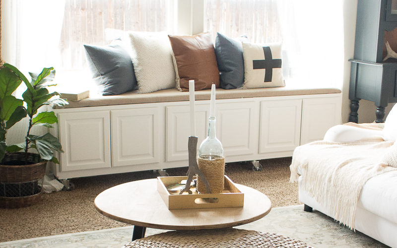 Add Character To Your Rental With An Easy DIY Window Seat